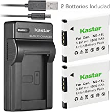 Kastar Battery (X2) & Slim USB Charger for Canon NB-11L and PowerShot SX410 IS SX400 IS ELPH 170 IS 340 HS 320 HS 130HS 110 HS 1150 HS A2300 IS A2400 IS A2500 A2600 A3400 IS A3500 IS A4000 Cameras