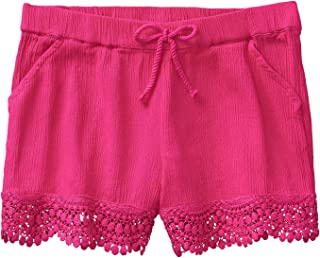 BNWOT  F/&F Hot Pink  Floral  Lace Shorts With Lace  trim  Size 8-10