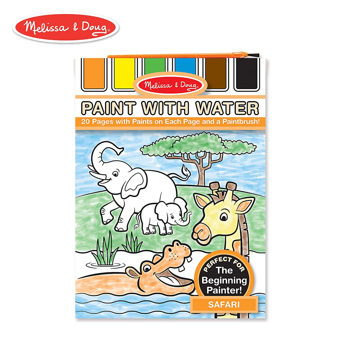 Melissa & Doug Paint With Water Activity Book - Safari (20 Pages) n4444791579