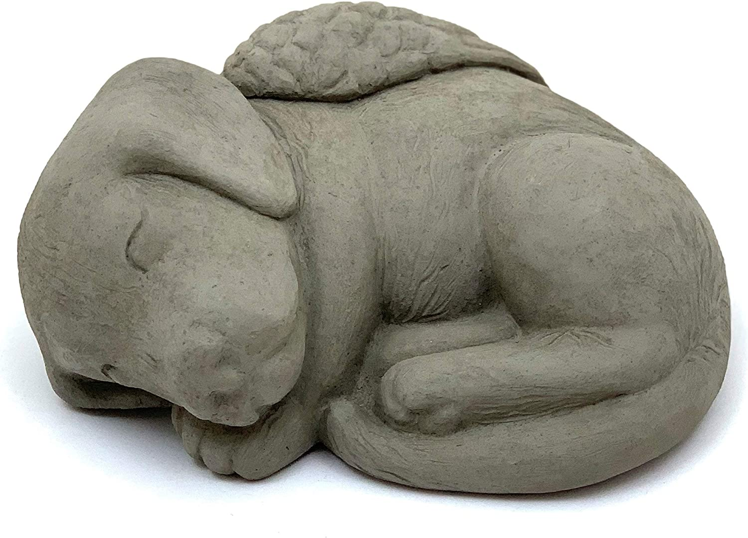 Max 81% OFF Sleeping Popularity Dog w Wings: Solid Stone Memorial O Statue Remembrance