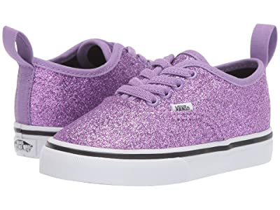 Vans Kids Authentic Elastic Lace (Infant/Toddler) ((Glitter) Fairy Wren/True White) Girls Shoes