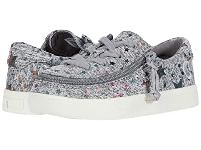 BILLY Footwear Kids Classic Lace Low (Toddler) (Heather Grey Star) Girl