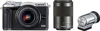 Canon ミラーレス一眼カメラ EOS M6 ダブルズームEVFキット(シルバー) EF-M15-45mm/EF-M55-200mm 付属 EOSM6SL-WZEVFK