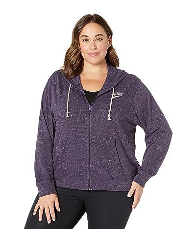 Nike Plus Size NSW Gym Vintage Hoodie Full Zip