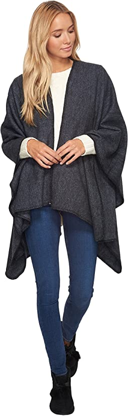 UGG - Blanket Stitch Poncho with Trim