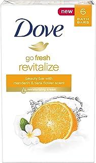 Dove go fresh Beauty Bar, Mandarin and Tiare Flower, 4 oz, 6 Bar