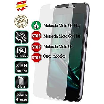 Movilrey Protector para Motorola Moto G4 Play Cristal Templado de ...