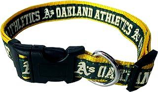 Multicolor GameWear MLB Oakland Athletics Pet LeashBaseball Leather Frozen Rope Medium