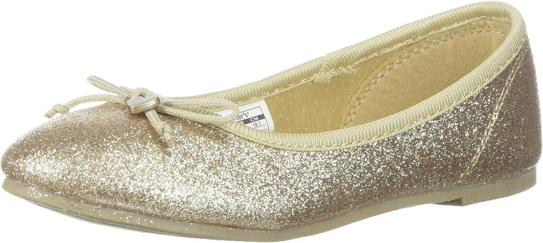 carter's Girls' Avelyn Ballet Flat, Gold, 10 M US Toddler