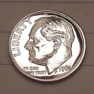 1 - 90% Silver PROOF Roosevelt Dime Date Range-1961-1964 Silver PROOF Dime Uncirculated US Mint GEM Silver PROOF Dime Gem Proof US Mint