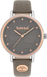 Timberland Sherburne Women's Analogue Quartz Watch with Grey Dial and Grey Leather Strap - TBL.15960MYTR-79