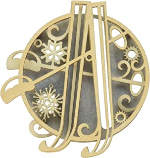 Enesco Flourish Skis Ornament 3.94 in