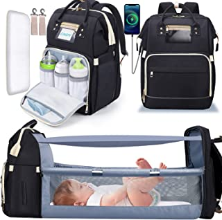 Diaper Bag Backpack, Gimars 6 in 1 Baby Bag with Changing Station for Boys Girl, Waterproof Baby Diaper Bags for Travel wi...