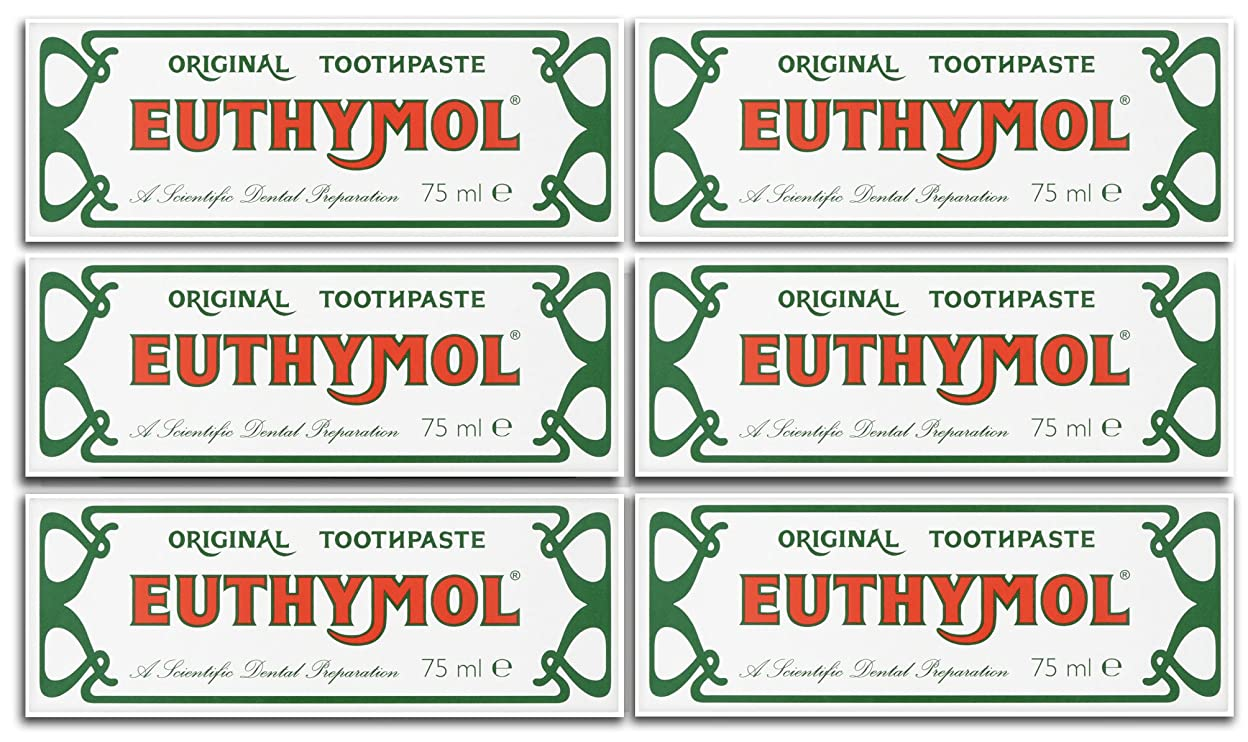 ディレイ申し立てられた衛星Euthymol Original Toothpaste 75ml (Case Of 6) by Euthymol