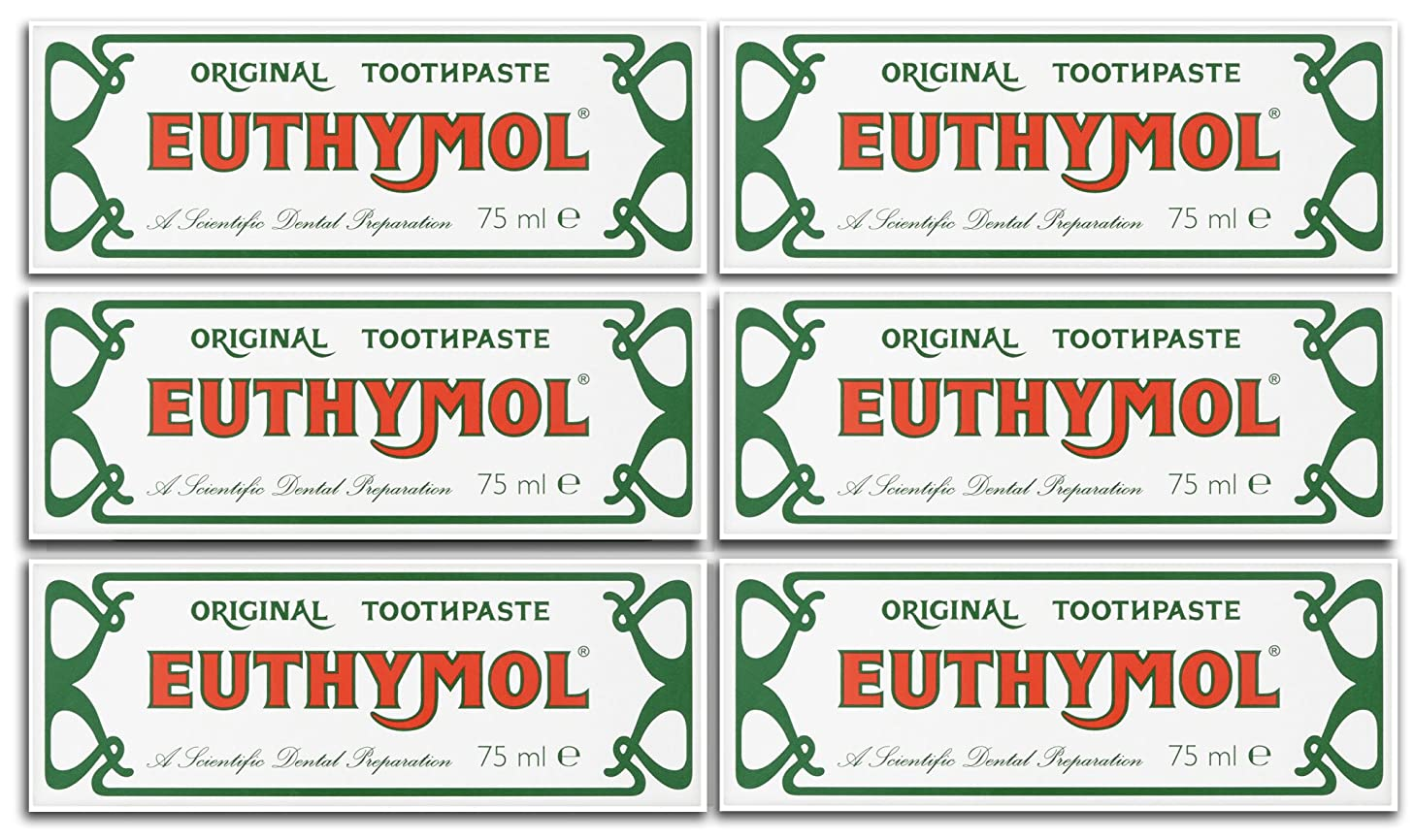 登録名前を作る農夫Euthymol Original Toothpaste 75ml (Case Of 6) by Euthymol