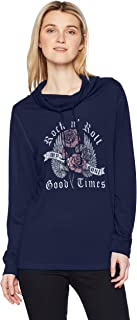 Fifth Sun Rebel Rose Women's Long Sleeve Cowls Top