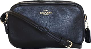 coach crossbody pouch in pebble leather