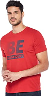 Giordano Men's 01099226 BE Message Printed Tee
