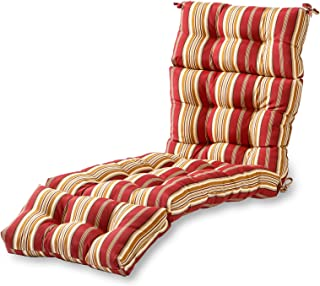 Greendale Home Fashions 72-Inch Patio Chaise Lounger Cushion, Roma Stripe