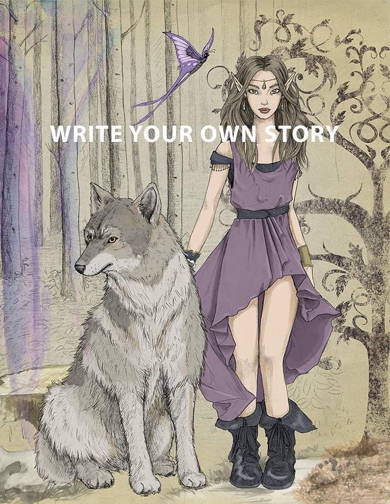 食用輸送集団的Write Your Own Story: Fairy Tale Theme Create Your Own Story Book for Girls & Teens ~ DIY Draw It Yourself Blank Journal to Draw, Write & Illustrate Personalized Activity Book for Kids