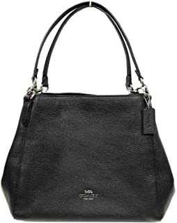 Pebble Leather Hallie Shoulder Bag