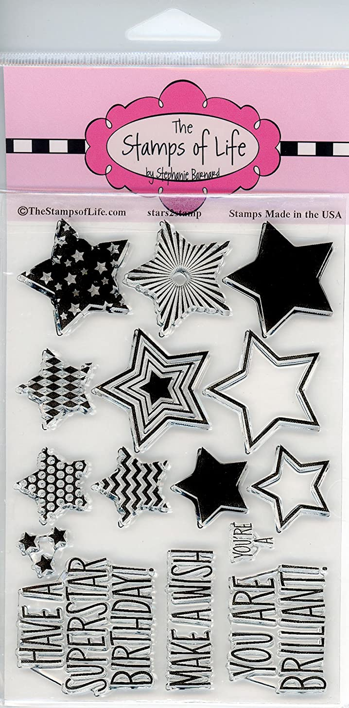 Stars Party Clear Stamps for Scrapbooking and Card-Making by The Stamps of Life - Stars2Stamp Sentiments