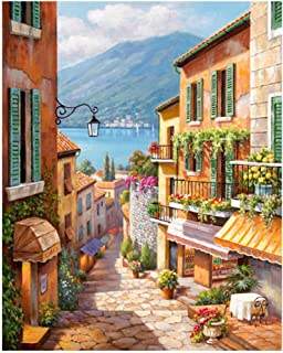 Suprcrne Painting By Numbers for Kids Adults, Canvas DIY Oil Painting Kit with Brushes and Acrylic Pigment for Home Decora...
