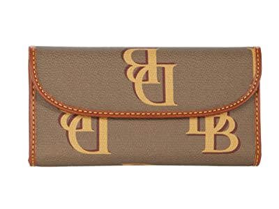 Dooney & Bourke Monogram Continental Clutch (Taupe) Clutch Handbags