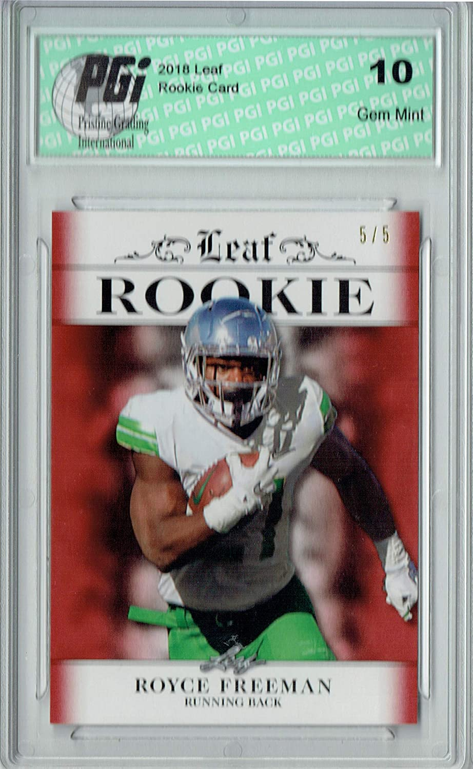 Royce Freeman 2018 Leaf Sales of SALE items Department store from new works Exclusive #RA-15 5 Made Ruby SP Rookie