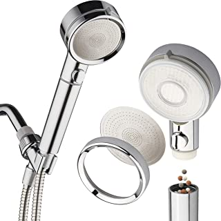 LaserJet Luxury Hand Shower Head with 2 Water Filters & Pause Switch – High Pressure Laser Micro-Jets – Removable Face for Easy Cleaning – Extra-long 72-inch Stainless Steel Hose – All-Chrome Finish