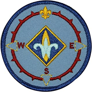 Cub Scouts Compass Badge Patch Weblos Vintage Sign Embroidered Iron On Applique
