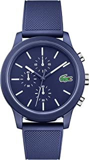 Lacoste Men's TR90 Quartz Watch with Rubber Strap, Blue, 21 (Model: 2010970)