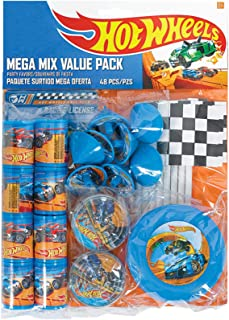 "Fast Riding Hot Wheels Wild Racer Birthday Party Mega Mix Favours Value Pack, Multi Colored, Plastic, 11 1/4"" x 8 1/4"" (Pk..."