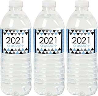 Big Dot of Happiness Light Blue Grad - Best is Yet to Come - 2021 Light Blue Graduation Party Water Bottle Sticker Labels...