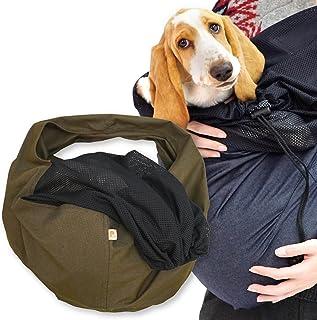 犬猫の服 full of vigor_ツイルカラーデニムフタ付き抱っこだワン_11/カーキ_BM_中型犬用