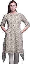 Bimba Asymmetric Kurta Indian Tunic Tops for Women Printed Indian Clothing