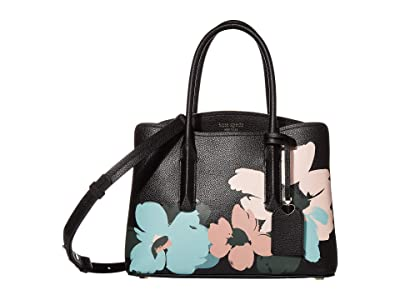 Kate Spade New York Margaux Brush Bloom Medium Satchel (Multi) Bags