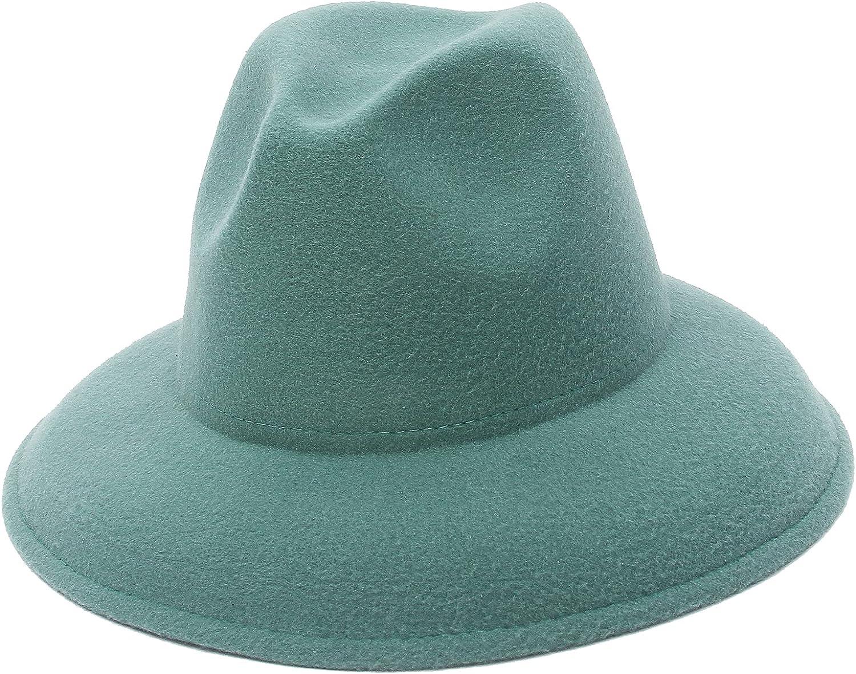 EOZY Women's Short Brim Fedora Hat Classic Panama Trilby Hat