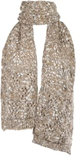Ypser Women's Soft Scarf Cable Knit Scarf Wrap Shawl Winter Scarf with Pockets