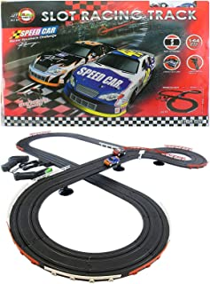 JJ_TOYS Nascar Style Slot Car Track Ho Scale Race Set New And Improved 2019
