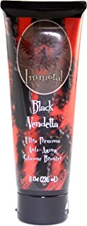 Immoral Black Vendetta 300XX Advanced Tanning Lotion Bronzer | Dark Streak Free Tattoo Safe Anti-Aging Peptide Outdoor/Indoor Tanning Bed Tan Accelerator, Intensifier, Maximizer, Bronzing Lotion,8Oz
