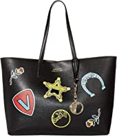 Leather Tote w/ Patches