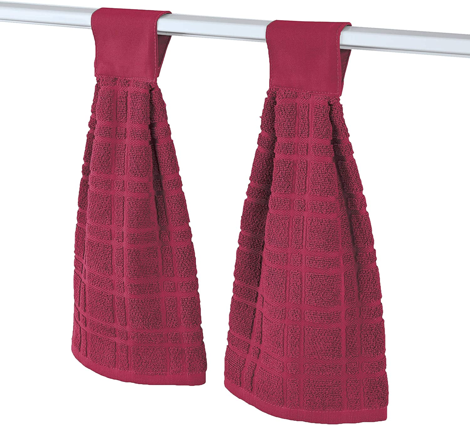 Hanging Tufted Design Kitchen Towels - Set 2 Top Tab Cheap mail order shopping Touch of Ranking TOP8