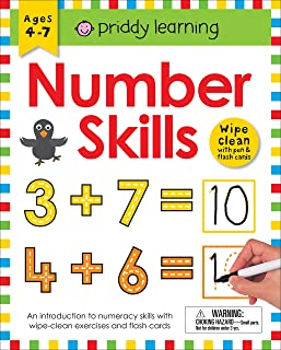 Wipe Clean Workbook: Number Skills (Enclosed Spiral Binding): Ages 4-7; Wipe-Clean with Pen & Flash Cards