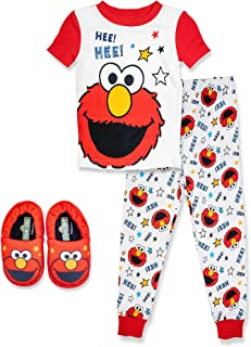 Elmo Toddler Boys Gray Making People Laugh Top Two-Piece Short Set Size 2T 3T 4T