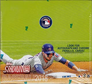 2018 Topps STADIUM CLUB Baseball Series Unopened Retail Box of 24 Packs with Chance for Stars Rookie Cards and Hall of Famers Plus Chrome Parallels and Autographed Cards