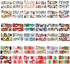 PHOGARY 360pcs Nail Sticker Decals Water transfer Nail Tattoos (Cute Christmas Patterns), 36 Styles Colorful Nail Art Decals For Manicure Pedicure Decoration