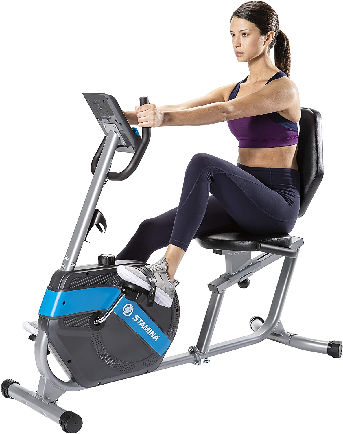 Stamina Magnetic Resistance Recumbent Exercise 評価 オンライン限定商品 On with Free Bike