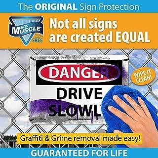NMC DL147BUV50 1824 8 Dot Placard Sign