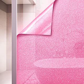 VViViD Pink Crystal Tint Frosted Decorative Two-Way Privacy Window Adhesive Vinyl Film Roll (36in by 60in)